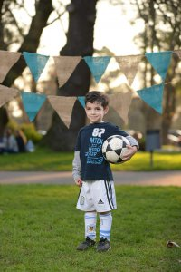 child, boy, soccer ball